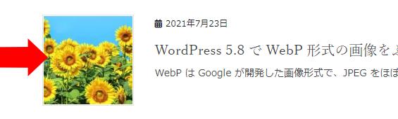 WebP をアイキャッチ画像に使っても、アーカイブページでこのようにきれいに正方形で表示されるので、気持ちよく使えるようになりました。